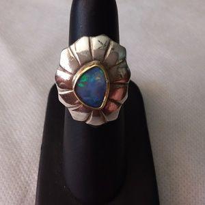 Opal ring in sterling sz 7